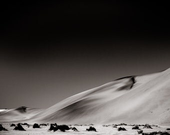 Desert Fine Art Photography - Landscape Art - African Sepia Monochrome Photography - Black and White Home Decor