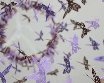 Butterfly Nursery Mobile - Purple Lavender Brown Baby Girl Butterfly Nursery Mobile Room Decor