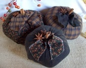 Large Rustic Country Pumpkin Trio - rustiquecat