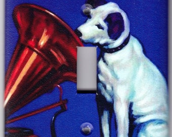Vintage RCA Victor Dog with Victrola Switchplate Cover - Single Jumbo size (360)