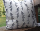 14 Inch Illustrated Feather cushion cover