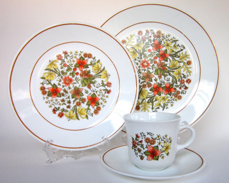 16 Pc Vintage Corelle Indian Summer Dinnerware Set