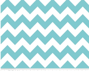 Medium Chevron Aqua  by Riley Blake Designs 1 yard cut