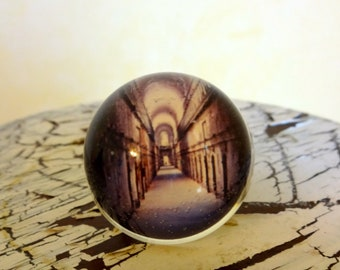 Haunted House Ring - Handmade in the USA - Spooky Hallway - Infinity Ring -Halloween