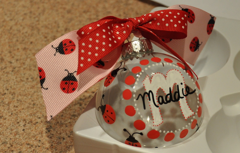 Ladybug ornaments - Personalized Christmas Ornaments