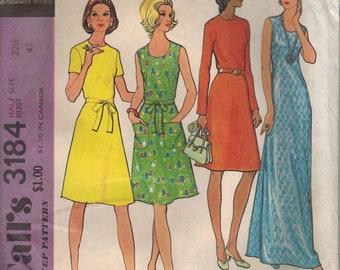 Vintage McCall's Sewing Pattern 3184 - Misses' Half Size Basic Dress (22.5)