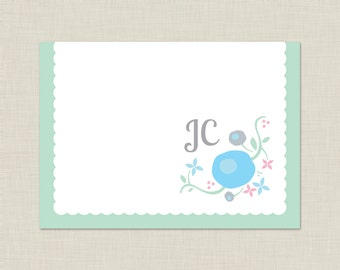 Personalized Stationery Set / Personalized Stationary Set / Sweet Flowers Note Cards