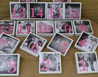 Wedding Table Numbers Reception Signs Table Number Wedding Place Cards Center Pieces Wedding Decor Wedding Signs Table Signs Set of 18