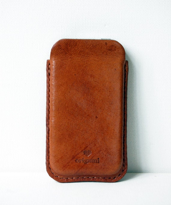 items similar to cognac iphone case handmade leather