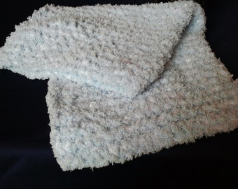 Super Soft light blue baby blanket