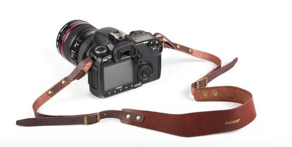 handmade genuine leather camera strap DSLR - photo#23