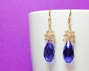 Beautiful Handmade Swarovski Crystal Drop Earrings