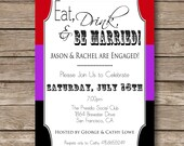 Printable Custom Engagement Party Invitation