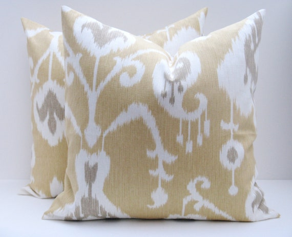IKAT PILLOW COVERS Throw Pillow Sets 20x20 inch by EastAndNest