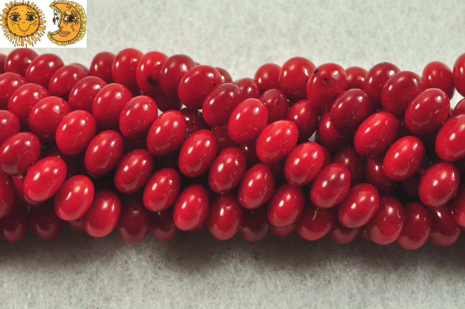 4X6mm Rondelle Red Coral Beads Strand 15 Inch Jewelry Making Beads