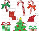 Christmas Fun Image Set - INSTANT DOWNLOAD- 50% off