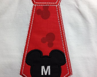 Mickey Mouse Tie Applique Shirt