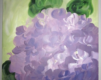Hydrangea Painting on Canvas
