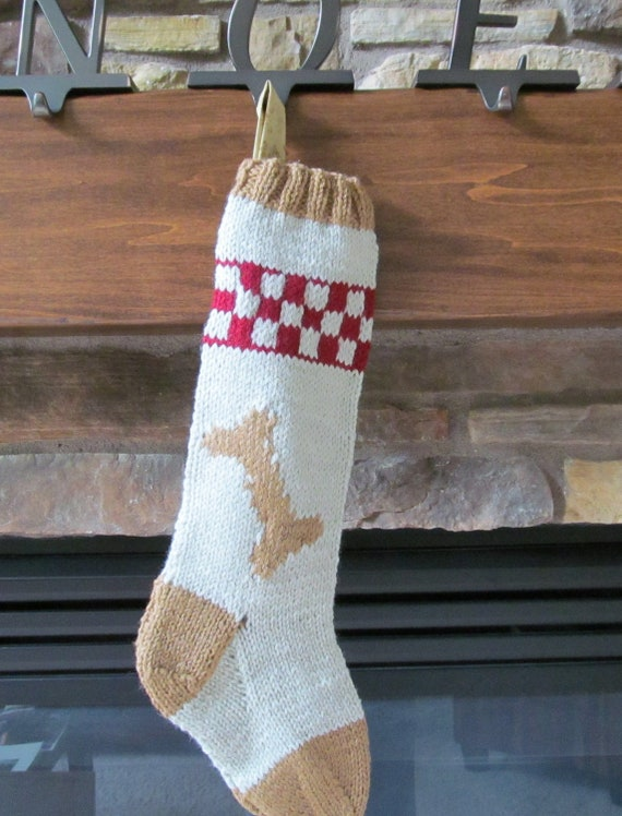 Christmas Stocking Knitting Pattern 2 Needles : Knitted Christmas Stocking