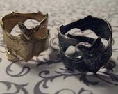 Bat Ring // Silver, Brass, Gunmetal // Adjustable