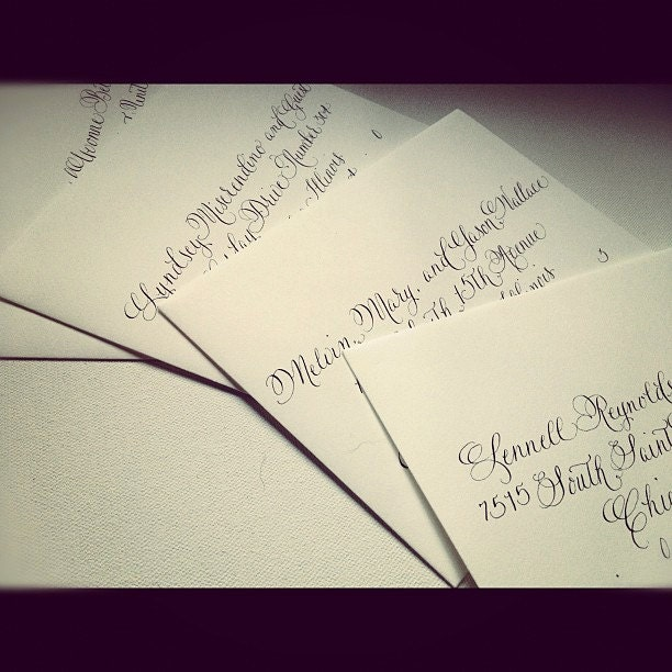Envelope template etsy calligraphy