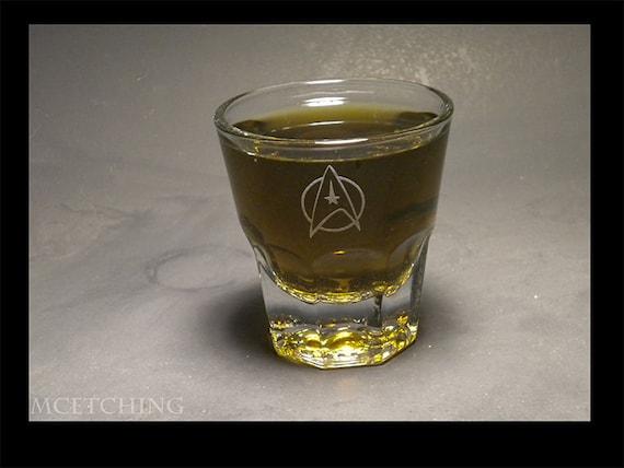 Starfleet 4 oz shot glass