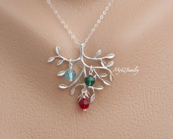 Christmas Gift from Son Birthstone Mother Necklace