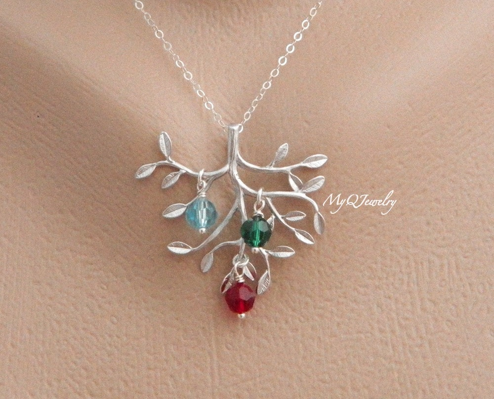 Christmas gift from son birthstone mother necklace for Jewelry for mom for christmas