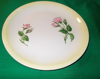 "Two (2), 10"" Dinner Plates from Paden City Pottery, in the PCP 38 Pattern"