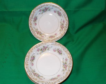"Two (2), 5 1/2"" Fruit / Dessert (sauce) Bowls, from Noritake, in the Somerset Pattern"