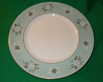 One (1), Royal Doulton, Experimental Design Plate for Market Research, Circa 1930's