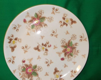 Two (2), 10 3/8 Porcelain Dinner Plates, from Caroline, in a Unknown Pattern