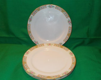 """Two (2), Nippon,  6 1/2"""" Porcelain Bread & Butter Plates from Noritake, in """"The Luzon"""" Pattern."""