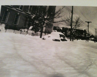 Blizzard of 1947 - 48 - Black and White Photo