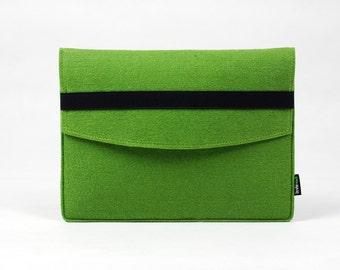 Felt Tablet iPad Case iPad 1 2 3 4 Sleeve New iPad Holder iPad Air Cover Bag Pouch with Black Elastic Band Custom Made E1141
