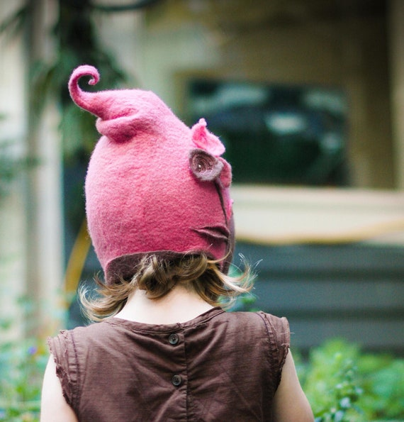child's felt hat - get your own custom child's merino hood