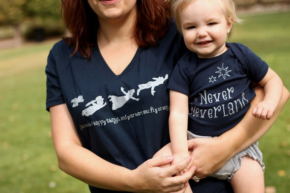 Mommy and Me Shirt Set: Peter Pan