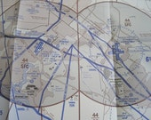 Helicopter Route Chart of Los angeles - Makes great background for Scrapbooking Pages