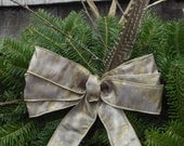 """Vintage Mod Wreaths - Attracts Fairies to Your Door. The """"Cicely"""" Fairy Wreath - 24"""" Maine Balsam Twig For Weddings or Any Occassion."""