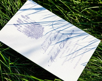 Lavender Bridal Shower Invitation