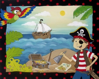 16x20 print of Pirate Painting