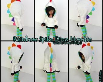 Custom YOSD Rainbow Dino Hoodie & Leggings Set