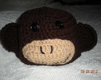 Crochet Monkey Infant Hat