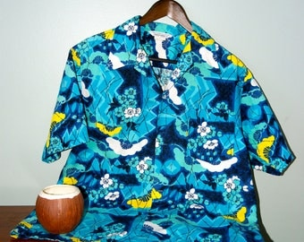Fabulous 1960's Made in Hawaii Aloha shirt