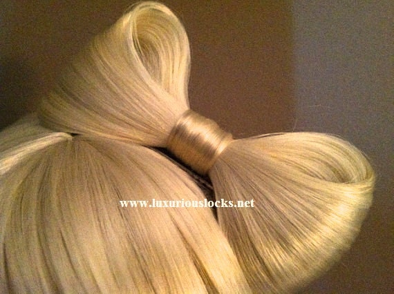 SALE - Beautiful Blonde Lady GaGa inspired synthetic hair bow