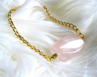 La Vie en Rose Bracelet, rose quartz bracelet, gemstone necklace, jewelry, boho rose quartz bracelet, crystal bracelet summer jewelry