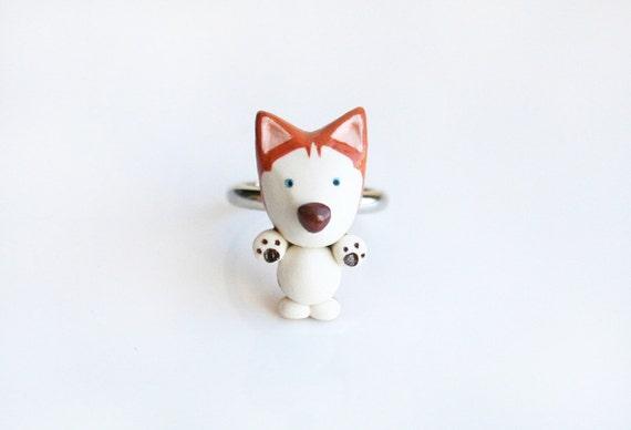 Red Siberian Husky ring