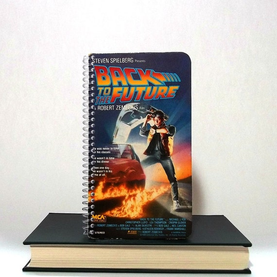 Upcycled Notebook From Back to the Future VHS Cover - Recycled Repurposed Journal Notepad
