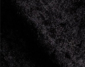 Stretch Panne Velvet Black 60 Inch Fabric by the Yard