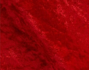 Stretch Panne Velvet Red 60 Inch Fabric by the Yard